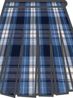 A+ FLCS Plaid 10 Pleat Skirt P76
