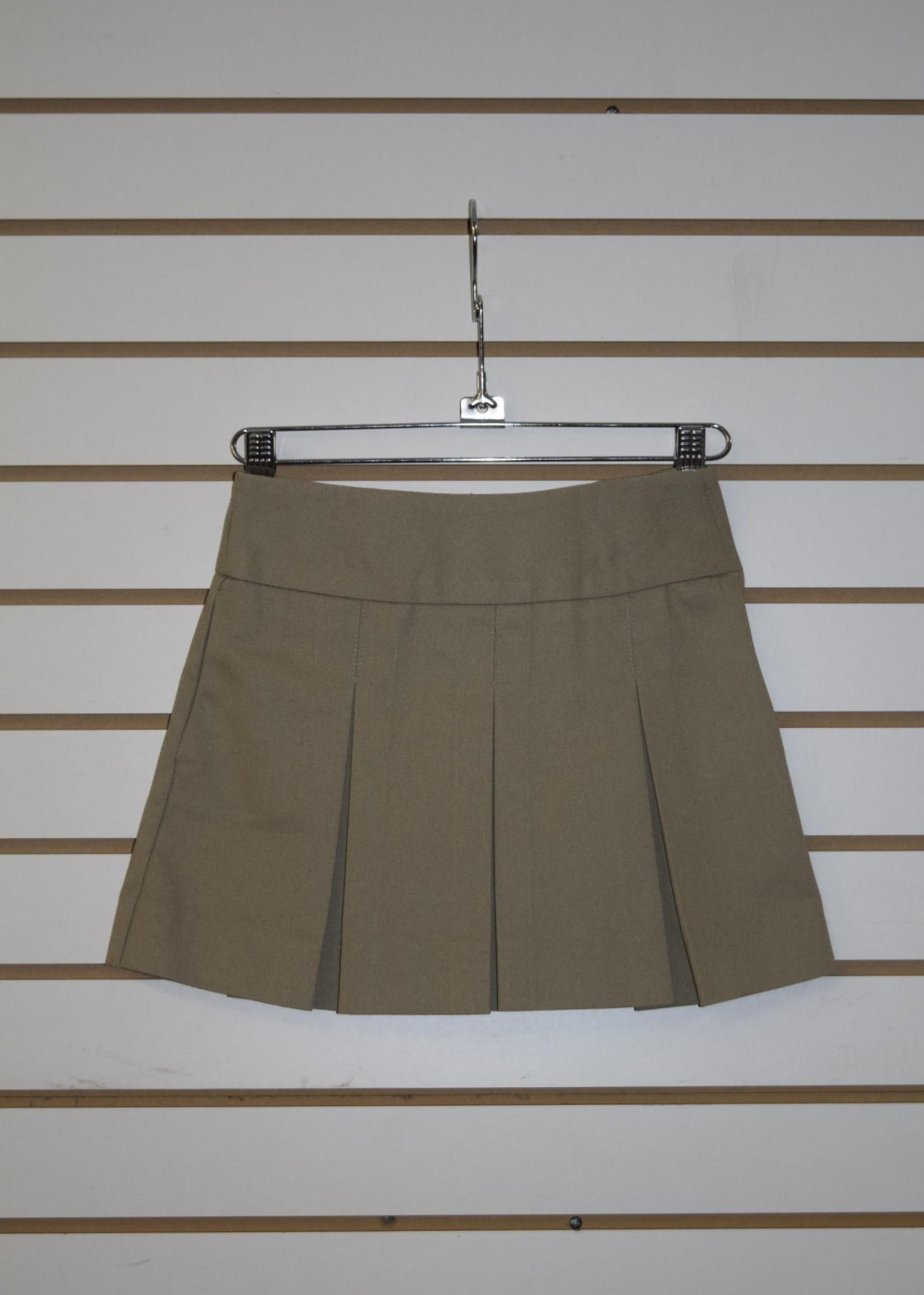 A+ Khaki Bias Band Skirt