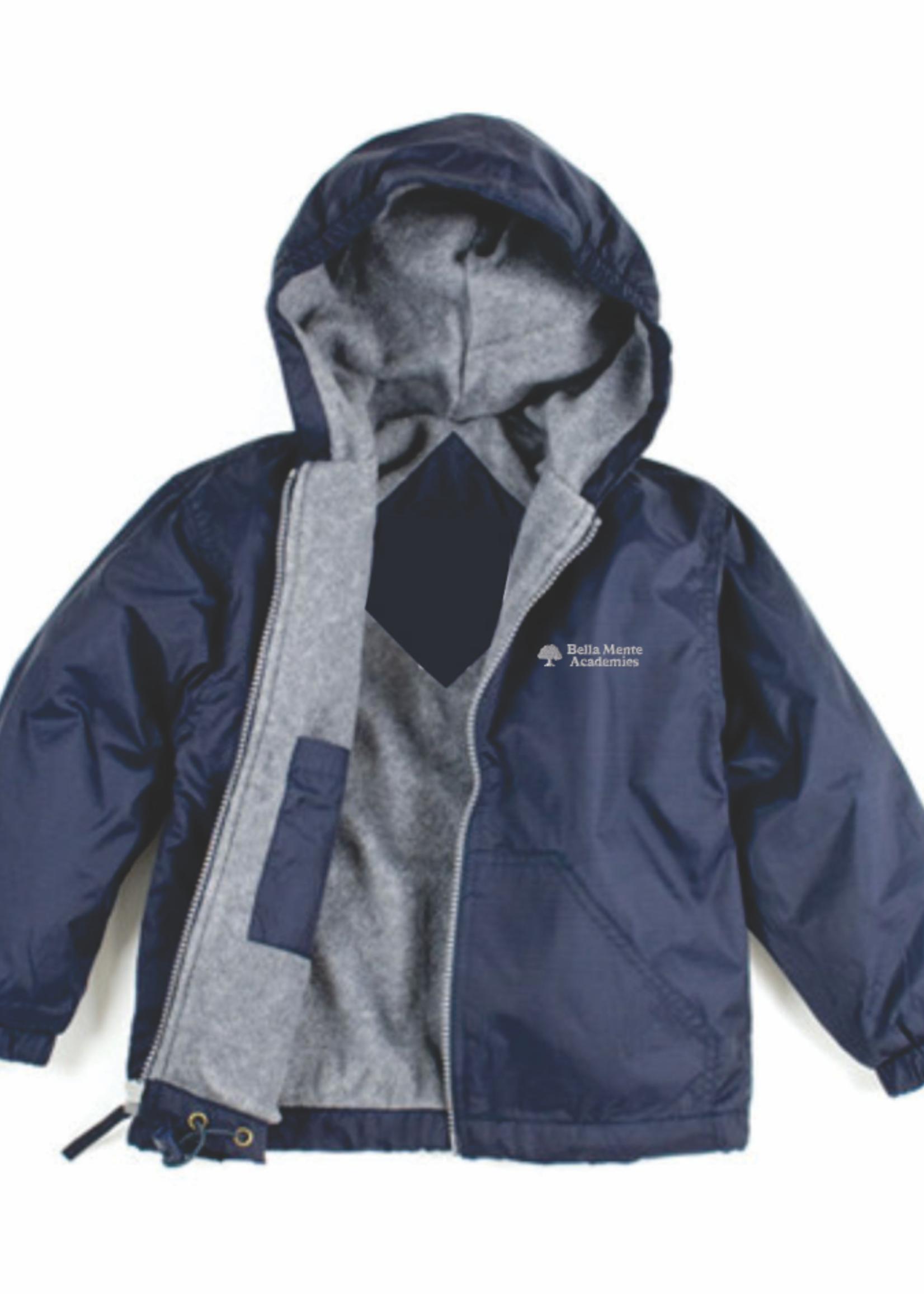 BMA Navy Windbreaker Hooded Jacket