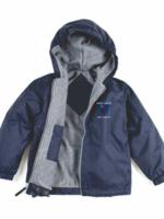 CCDS Navy Windbreaker Hooded Jacket