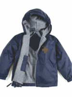 TUS CCPS Navy Windbreaker Hooded Jacket