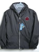 CLS Black Windbreaker Hooded Jacket