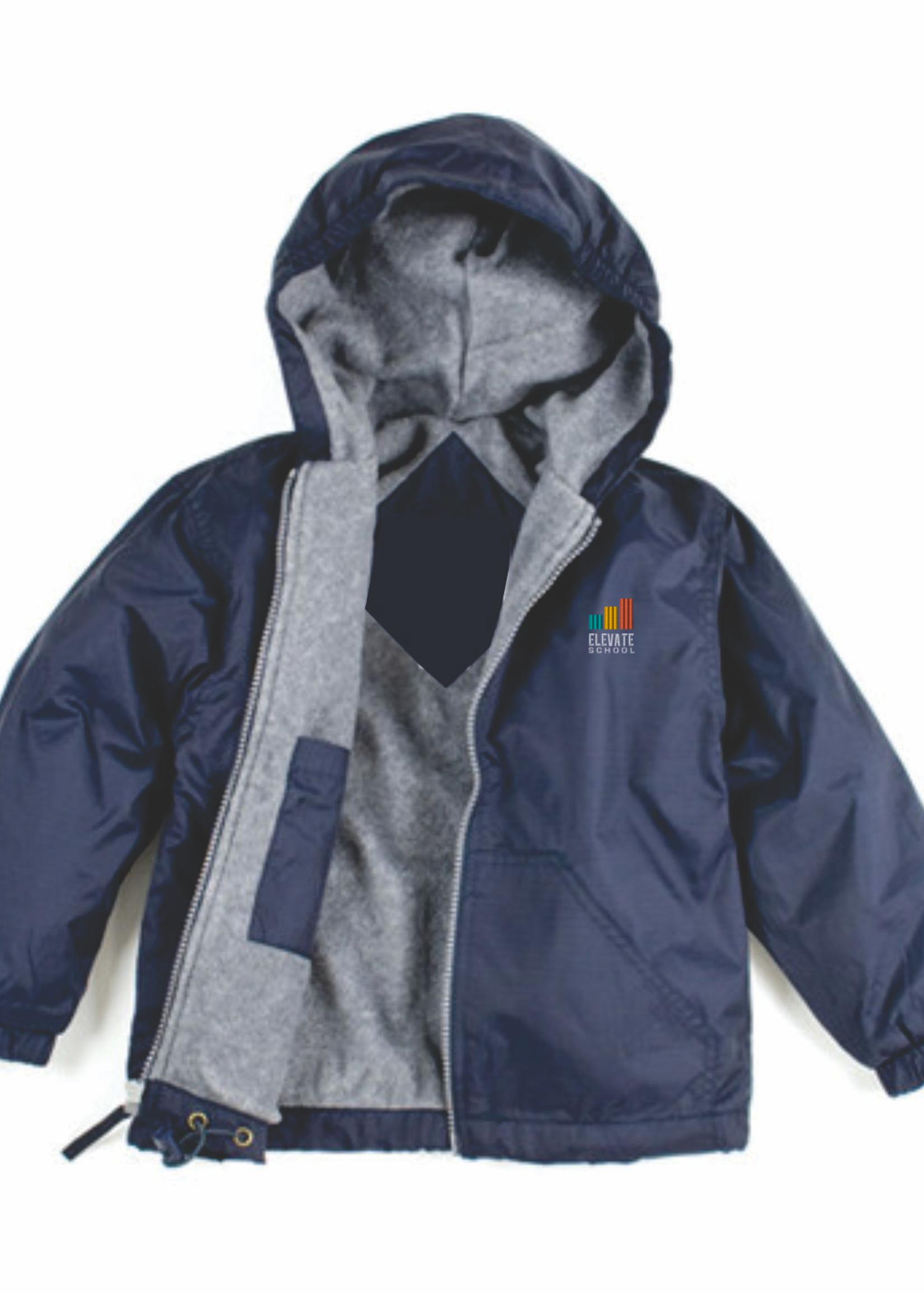 TUS Elevate Navy Windbreaker Hooded Jacket