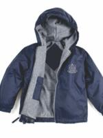 OLGA Navy Windbreaker Hooded Jacket
