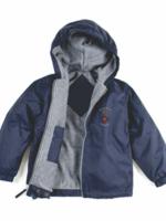 TUS SJC Navy Windbreaker Hooded Jacket