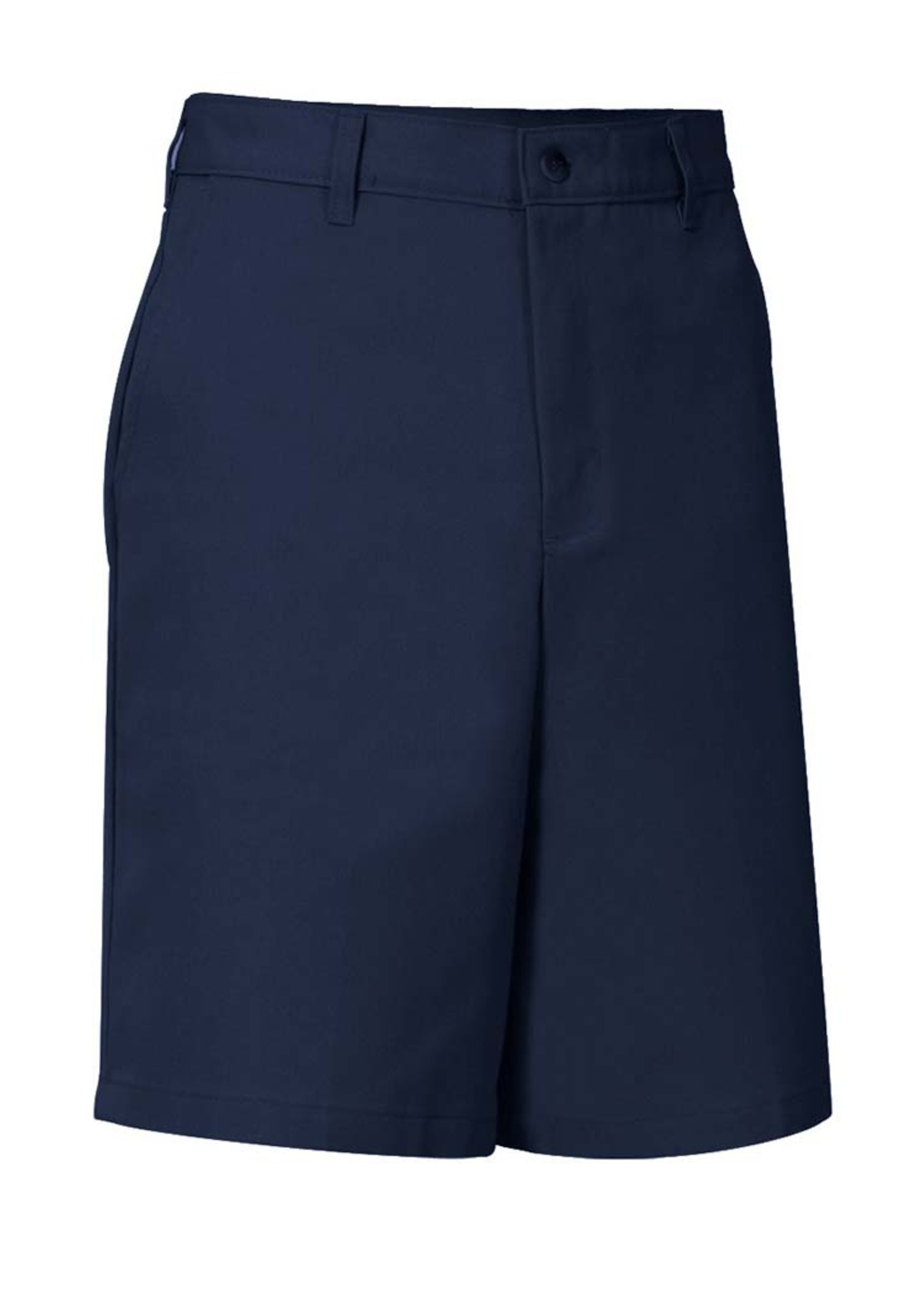 A+ Mens Navy Flat Front Shorts with logo