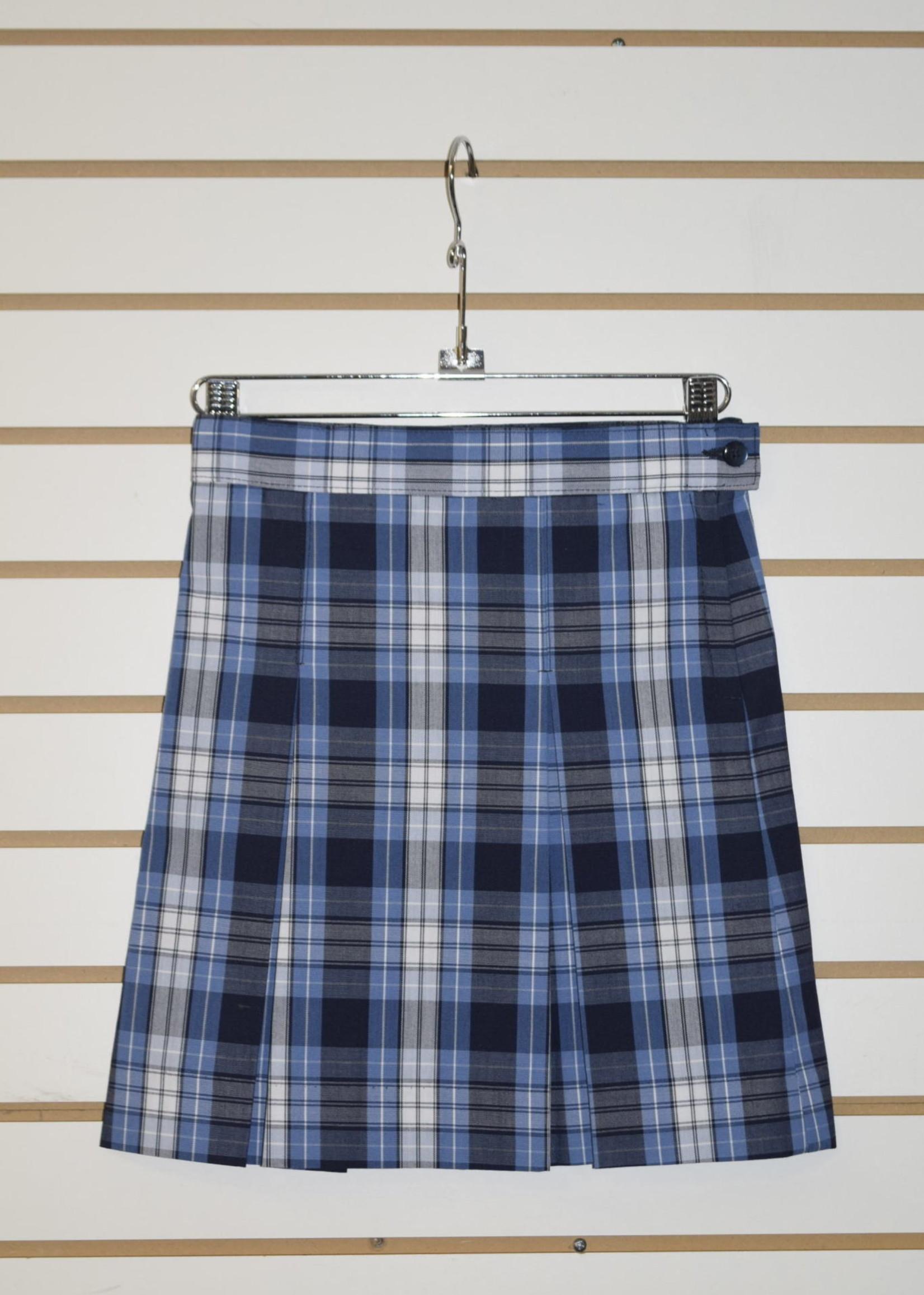 SKDA 4 Pleat Plaid Skirt P76