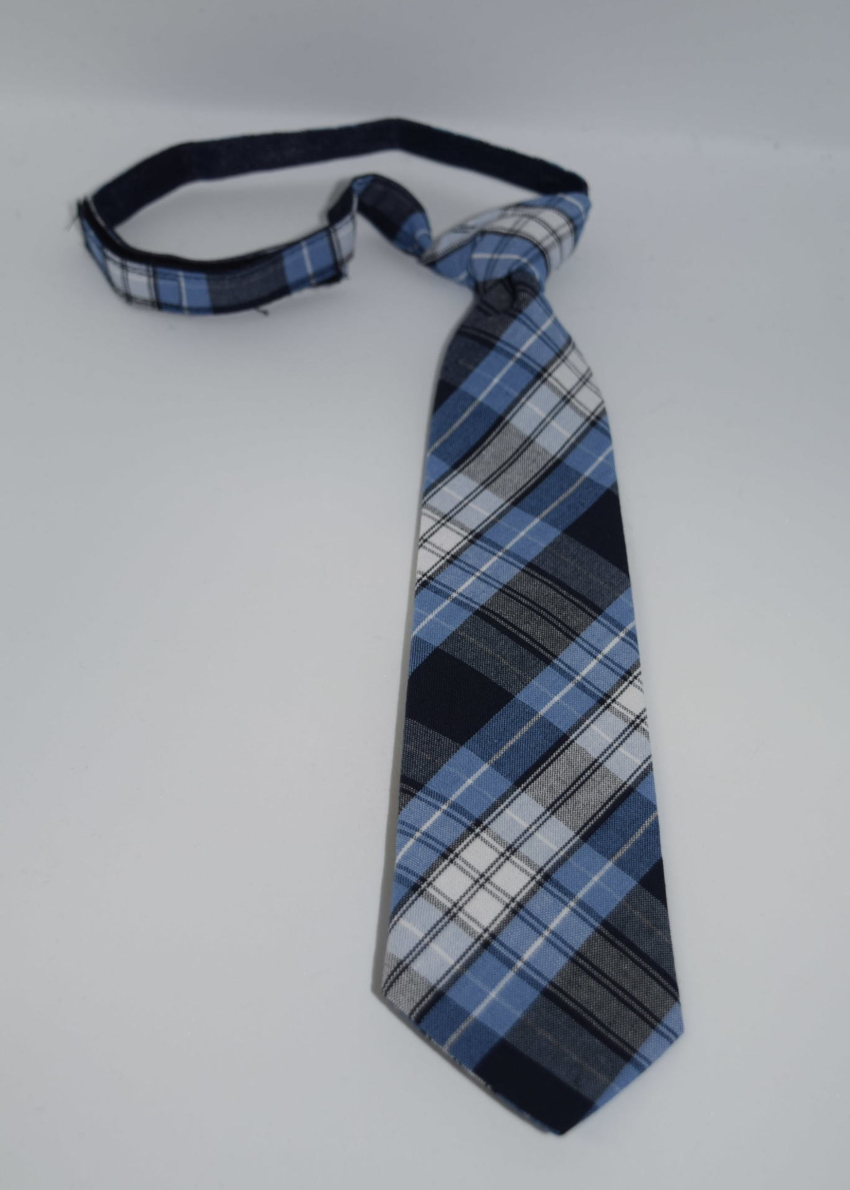 EDT Plaid Neck Tie - Pre tied tie w/velcro closure  P76