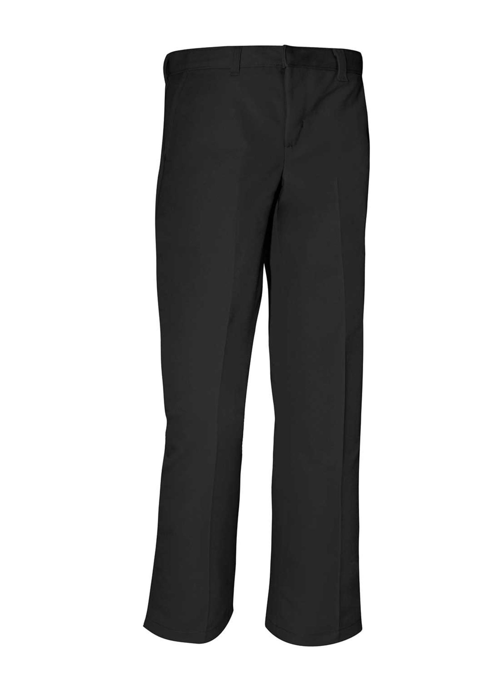 CLS Boys Black Flat Front Pants
