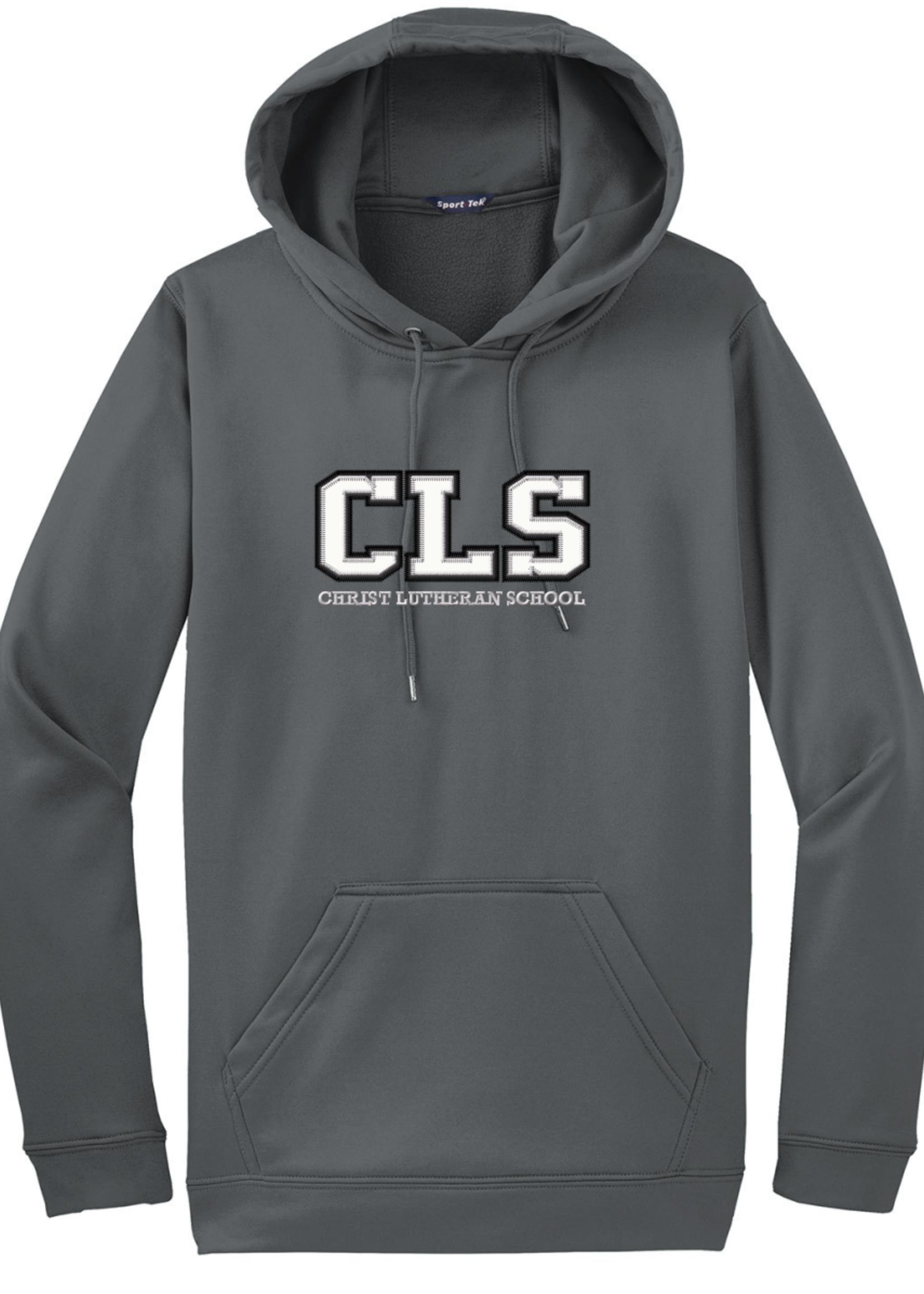 CLS Poly Tech Grey Hoodie Sweatshirt