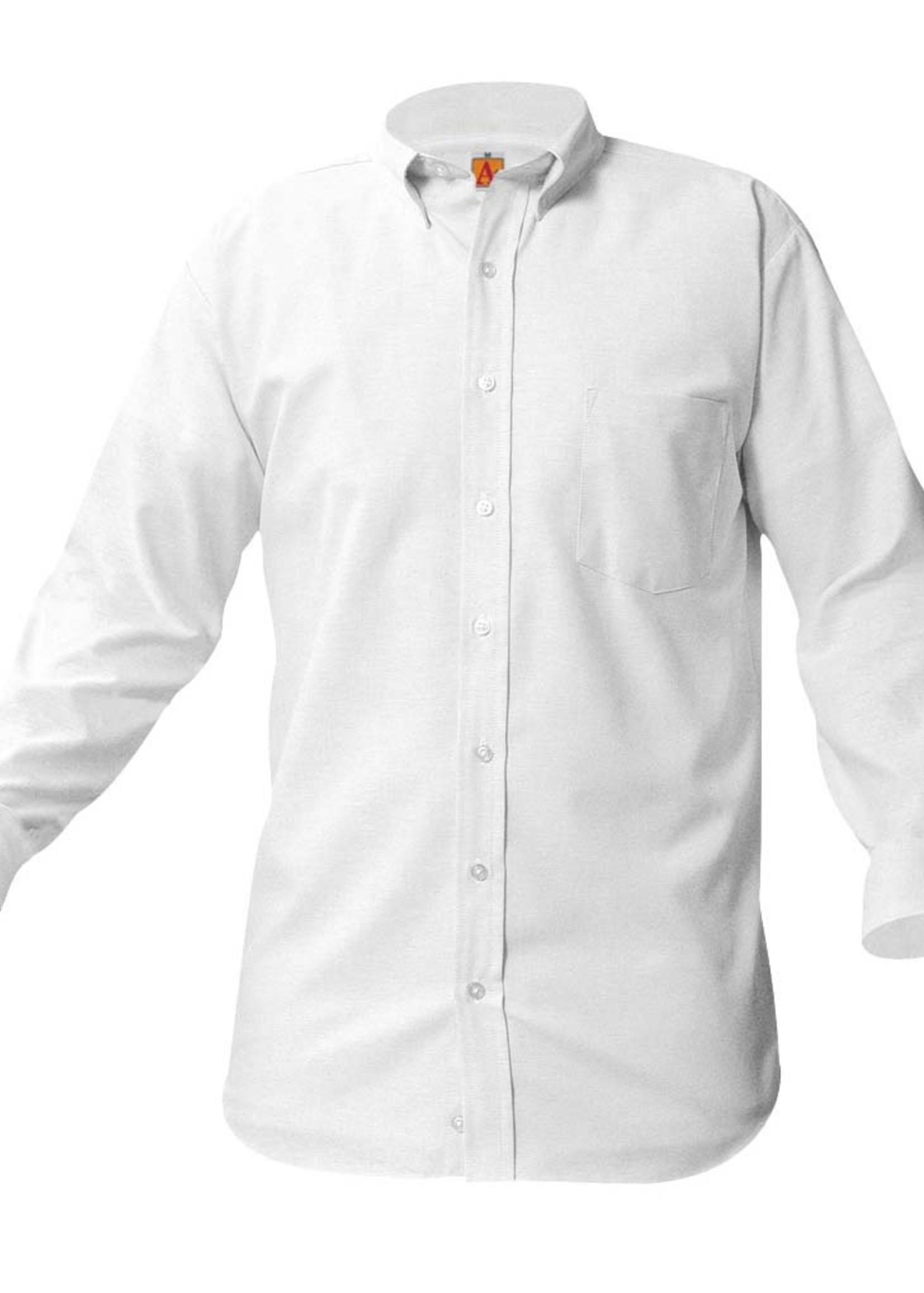 Null JDA White Long Sleeve Oxford Shirt