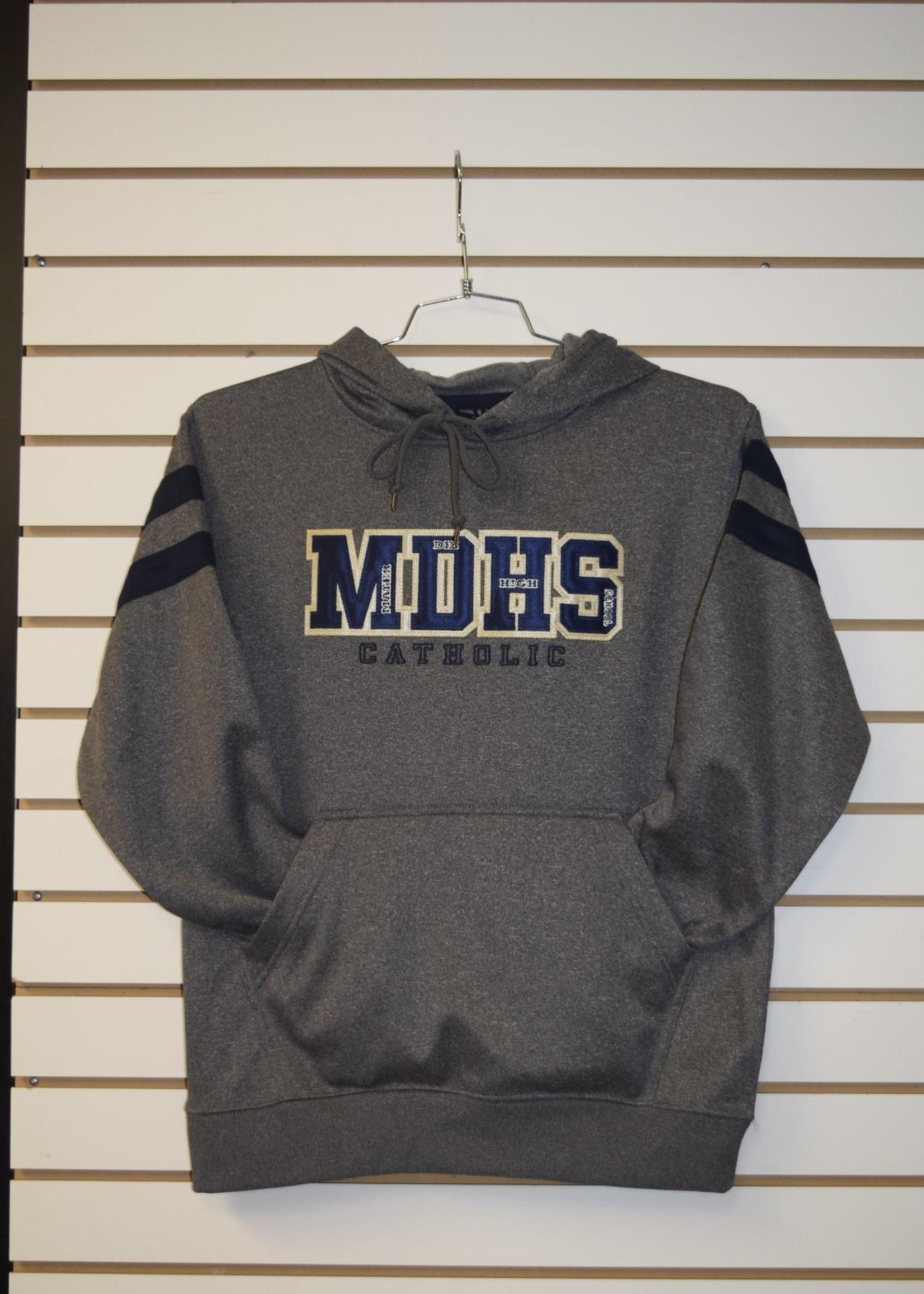 BAW MDCHS Adult Hybrid Fleece w/ Navy stripes