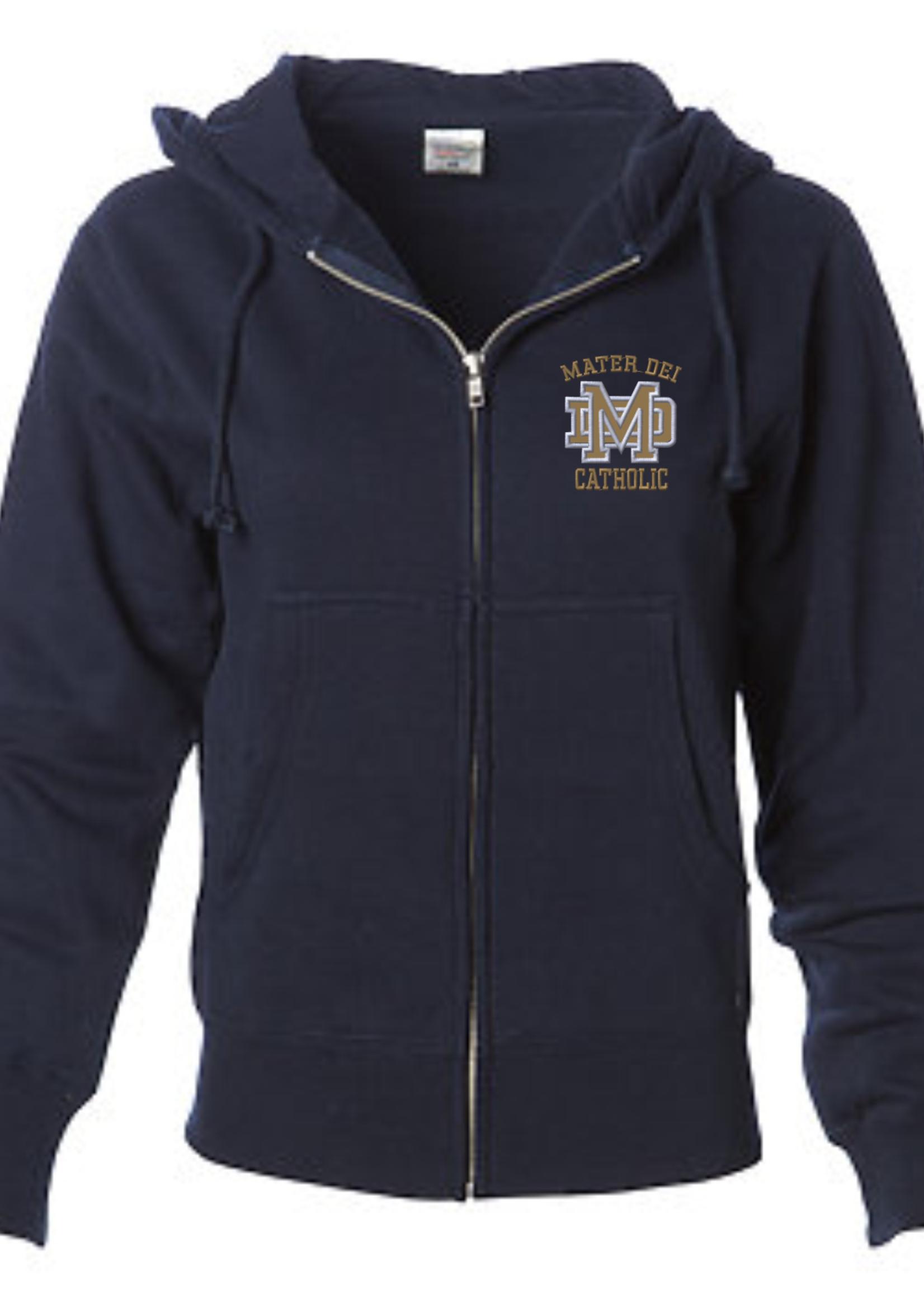 MDCHS Womens Navy Zip Hoodie
