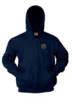 OLA Navy Full Zip Hooded Sweatshirt