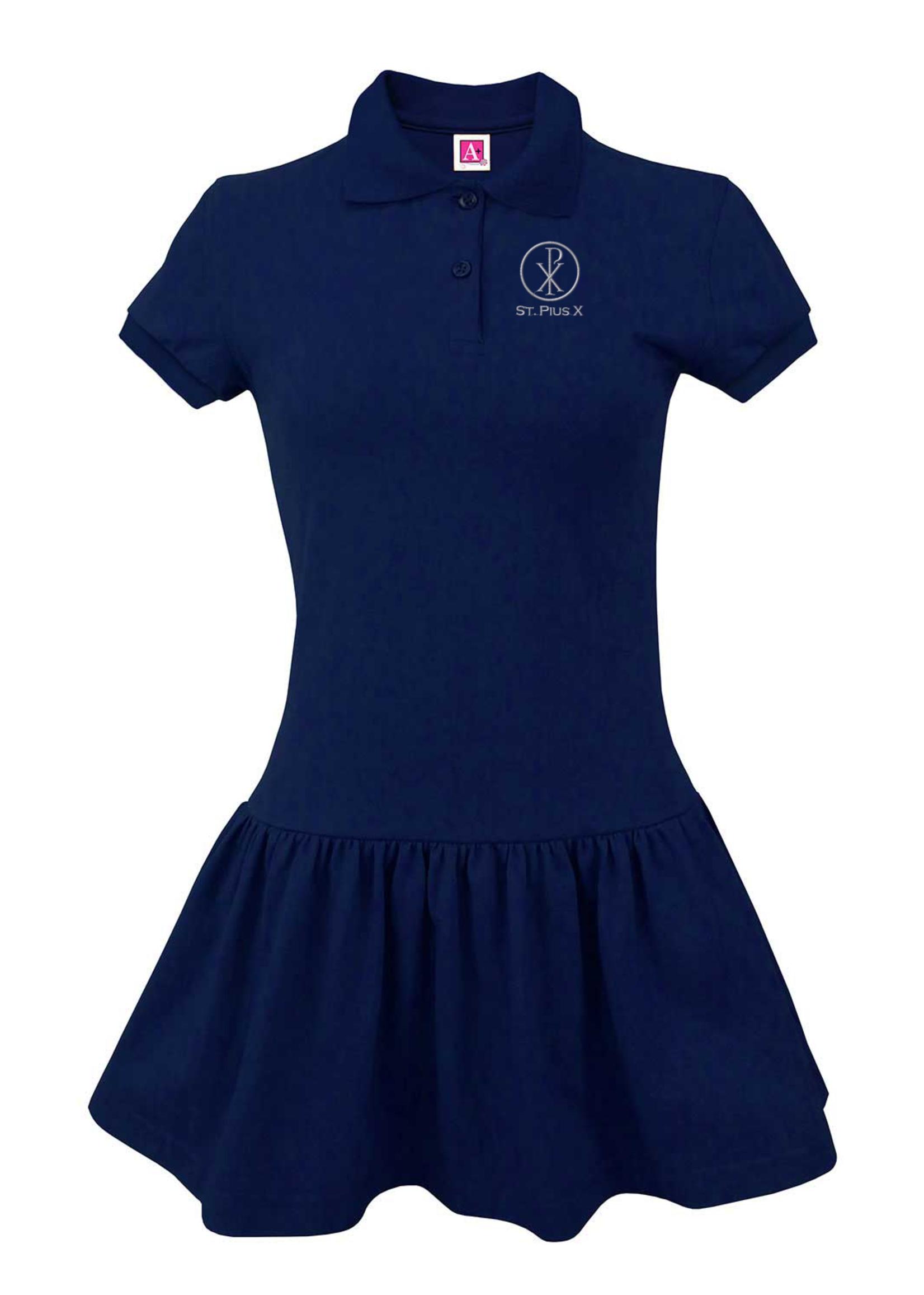 A+ Navy Jersey Knit Dress
