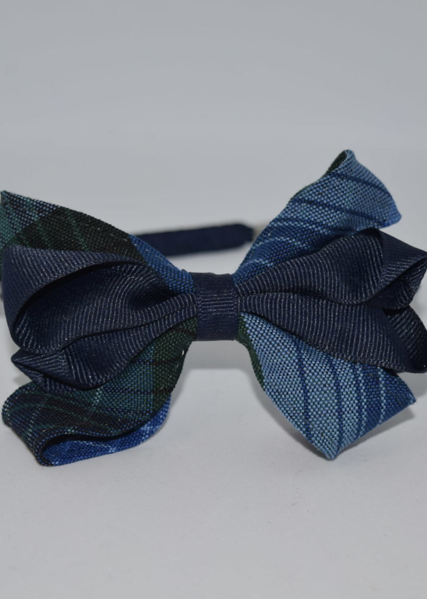EDT Carnival Bow on Headband P46 WHT NVY