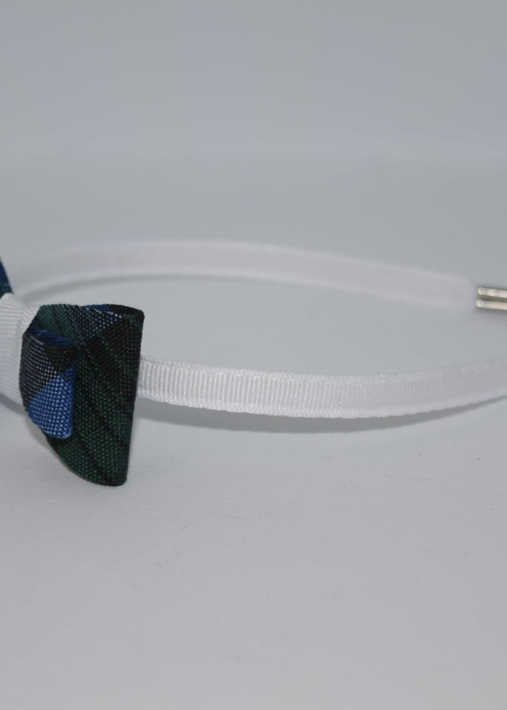 EDT Double Tailored Ponytail Bow on Headband P46 WHT