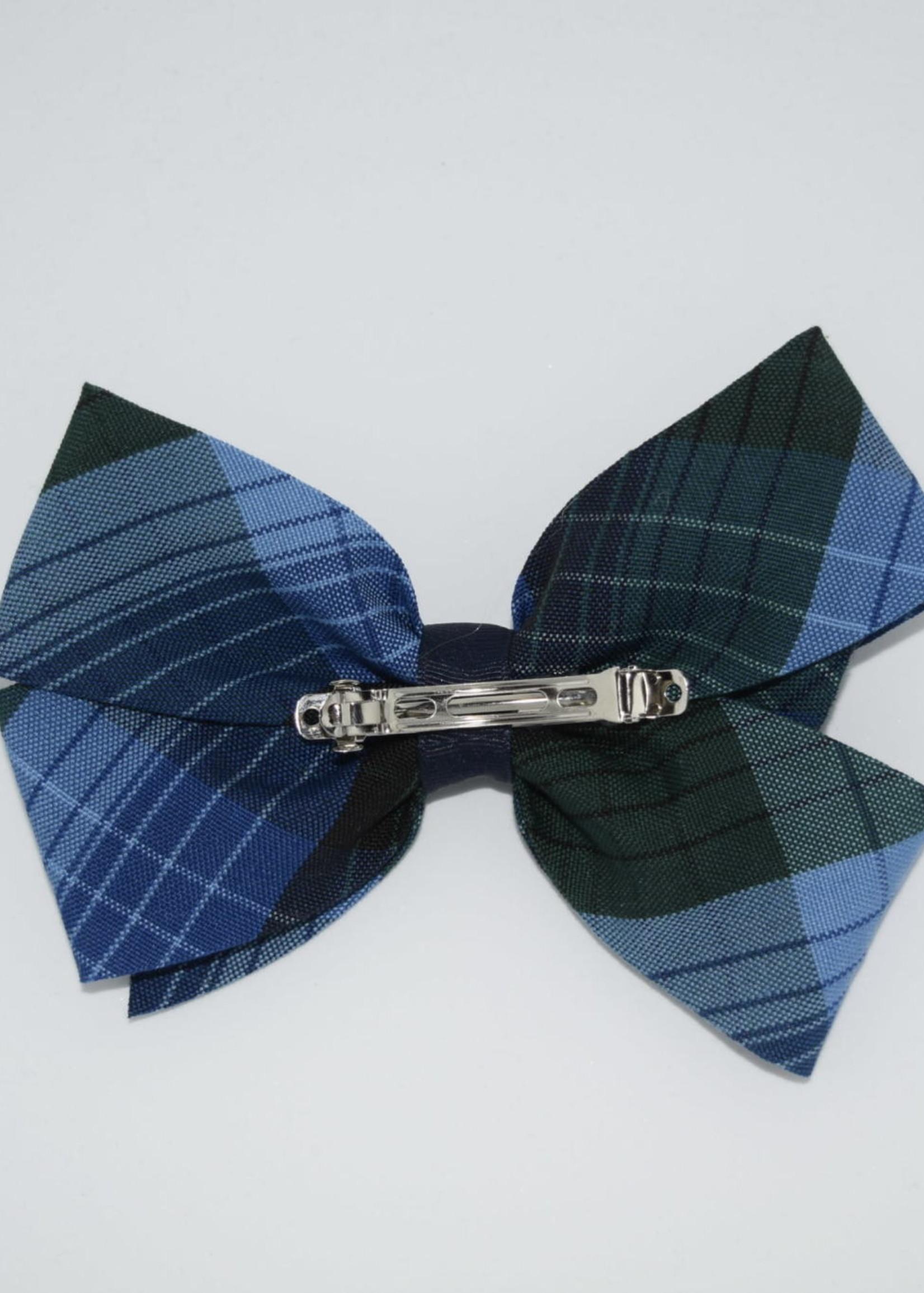EDT Large 2 1/4'' x 6'' wide plaid bow P46