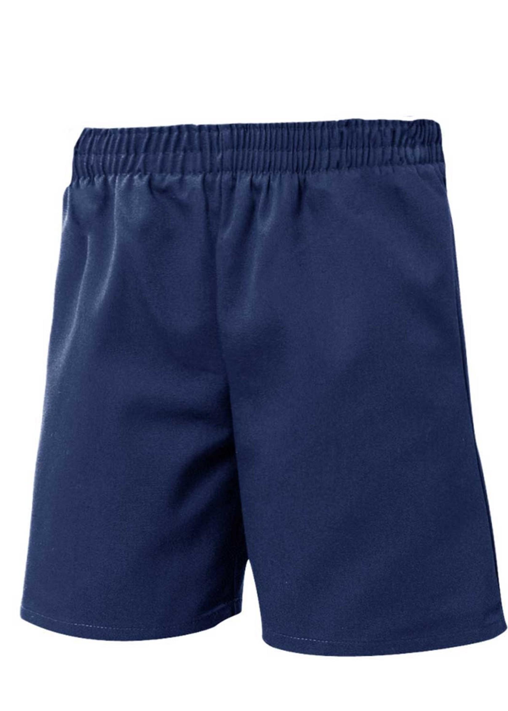 A+ Unisex Navy Pull On Shorts
