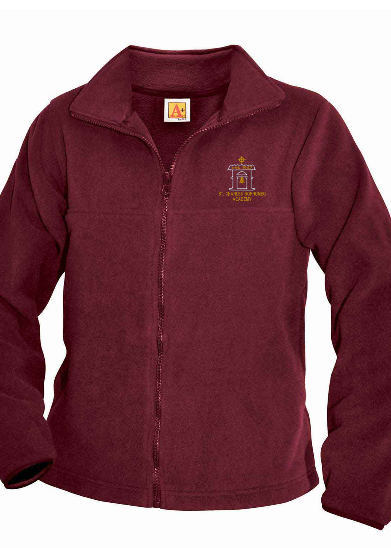 SCBA Wine Fleece Full Zip Jacket