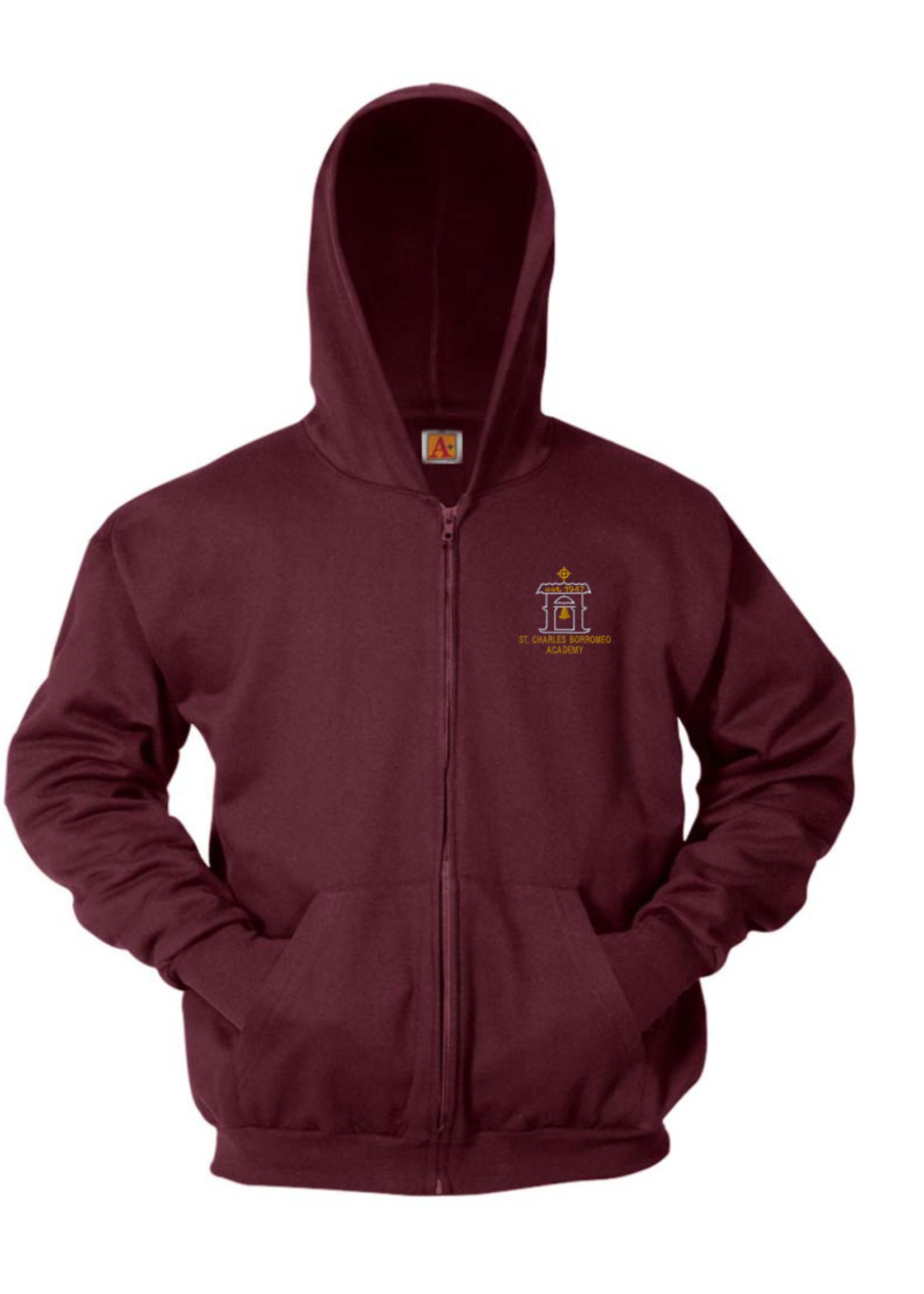 SCBA Wine Hooded Full Zip Sweatshirt
