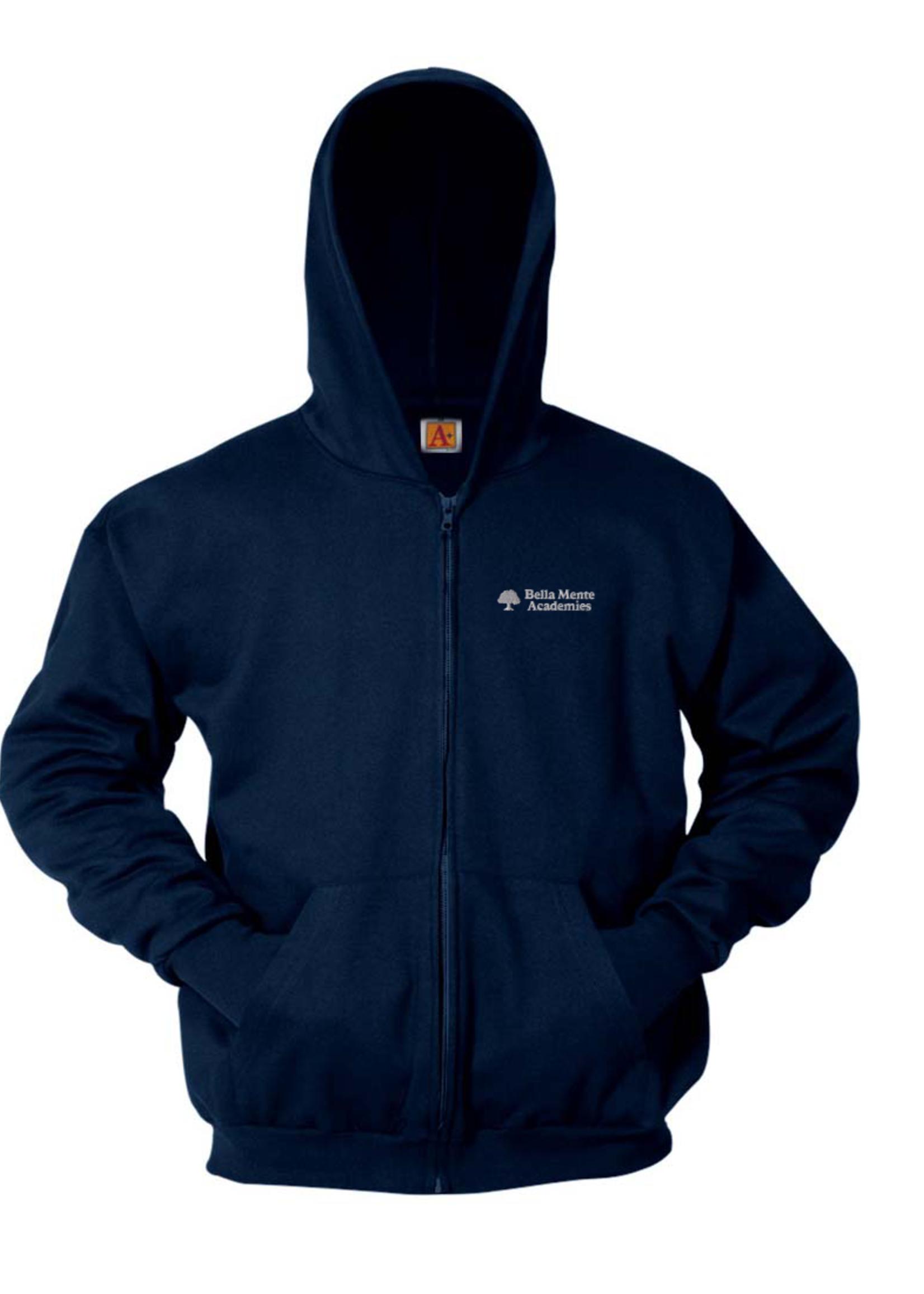 BMA Navy Hooded Full Zip Sweatshirt