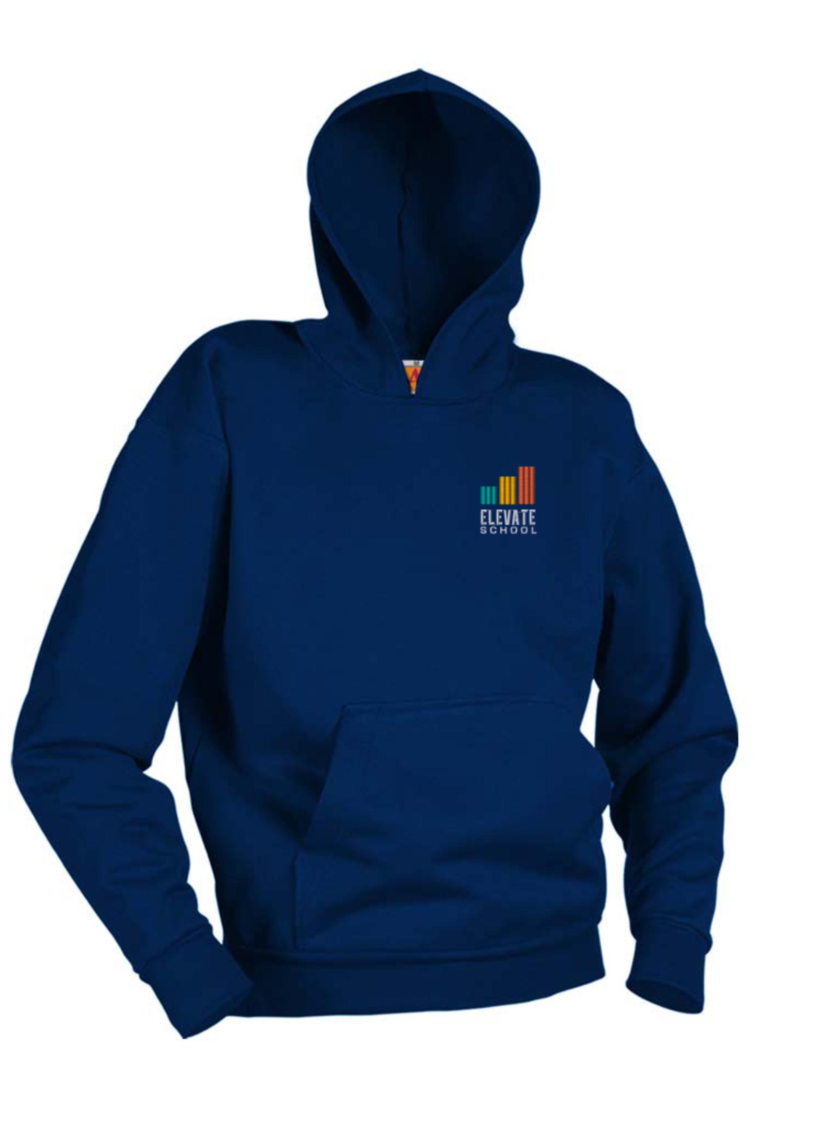Elevate Navy Hooded Pullover Sweatshirt