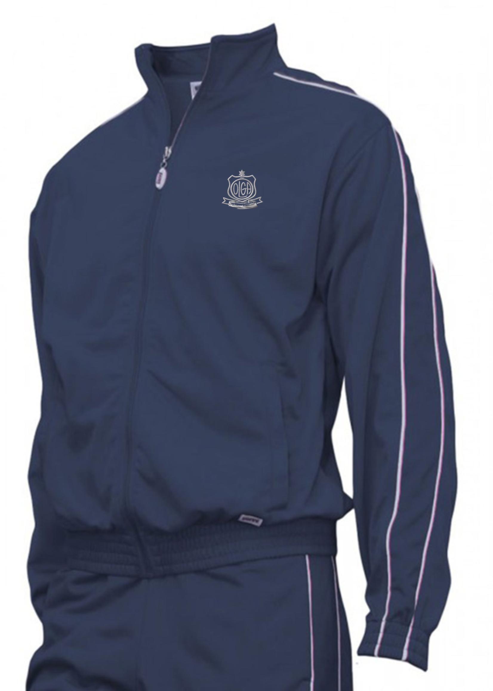 OLGA Navy Tricot Warm Up Jacket