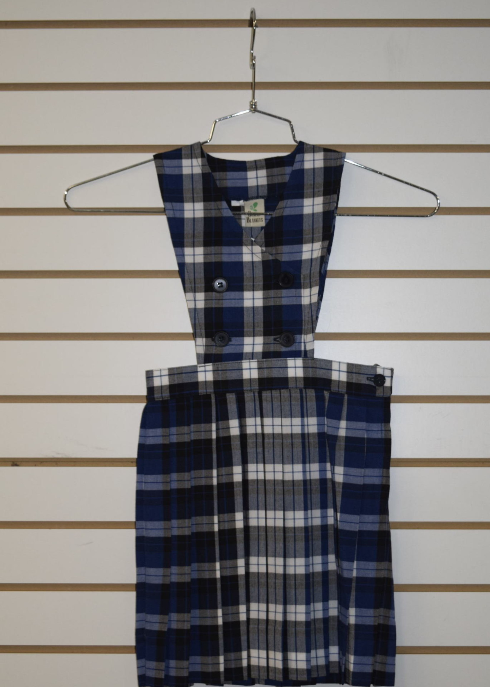 Plaid Double Breasted Jumper P108