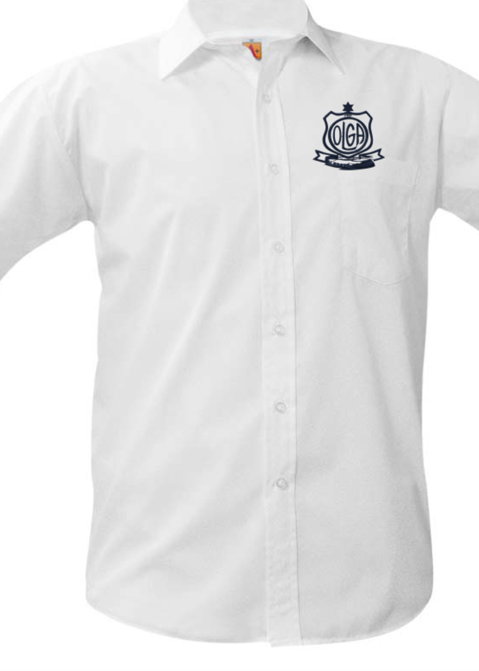 Null OLGA White Sort Sleeve Broadcloth Shirt