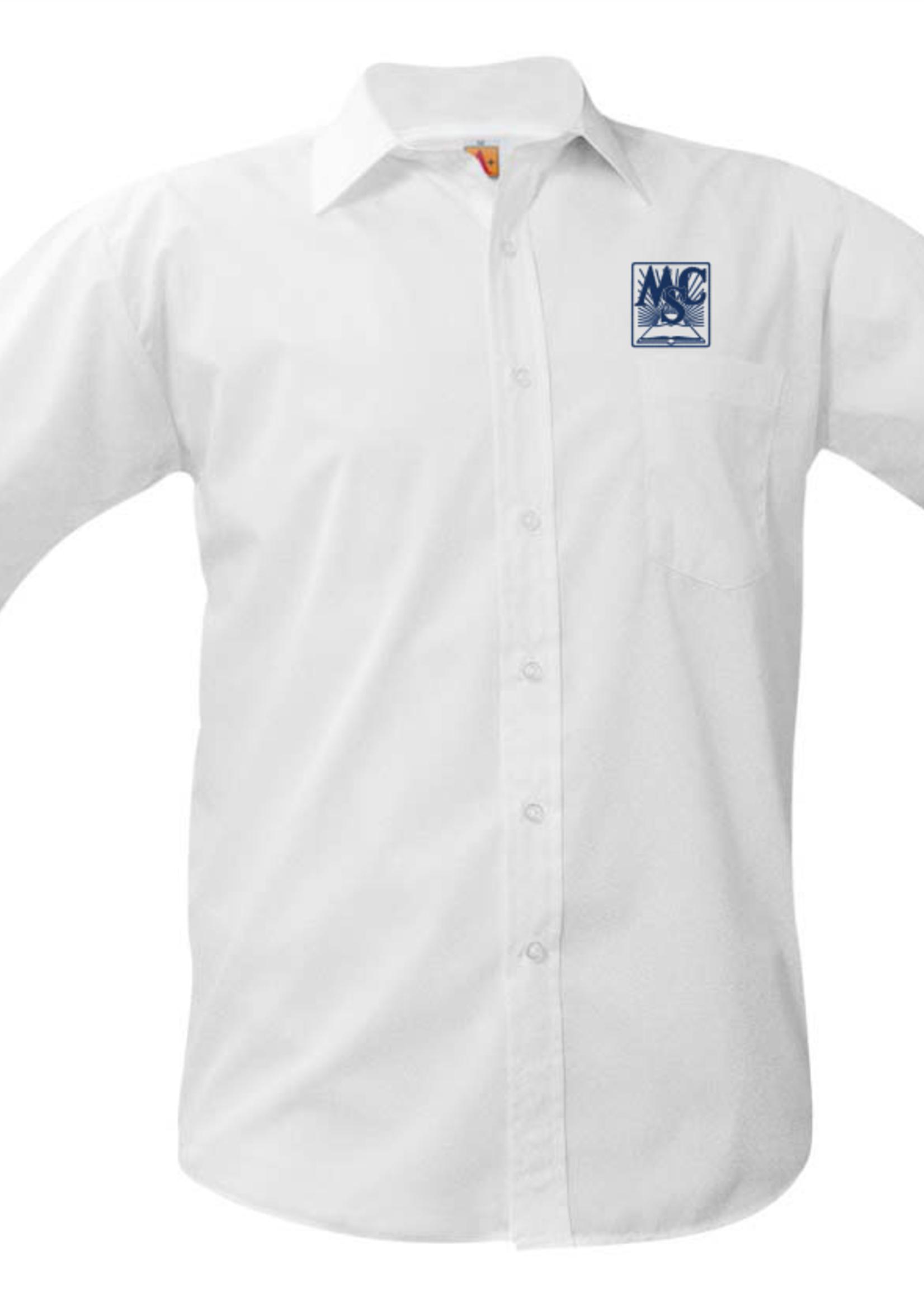 A+ OLMCS White Short Sleeve Broadcloth Shirt