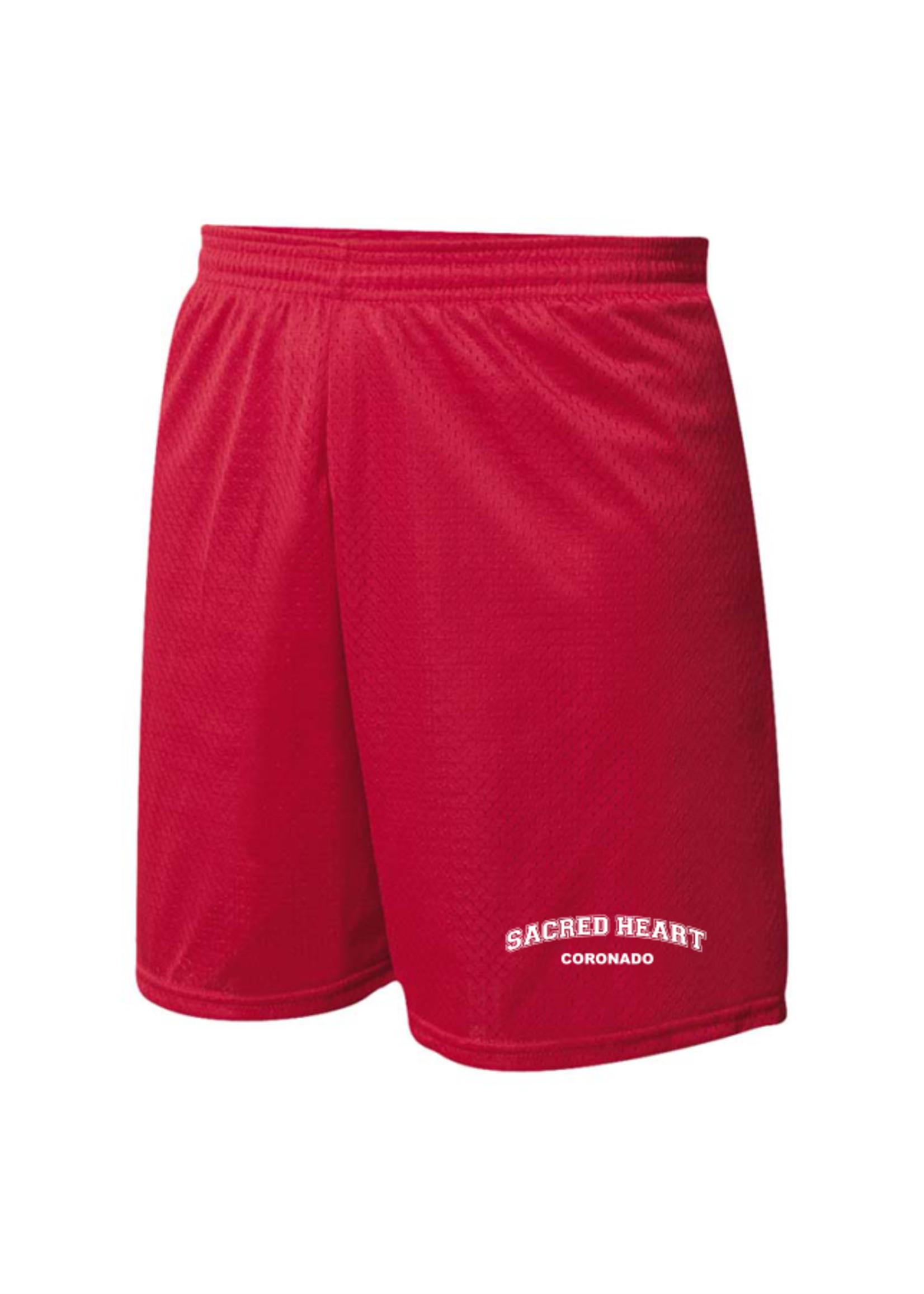 SHPS Red Mini Mesh PE Shorts
