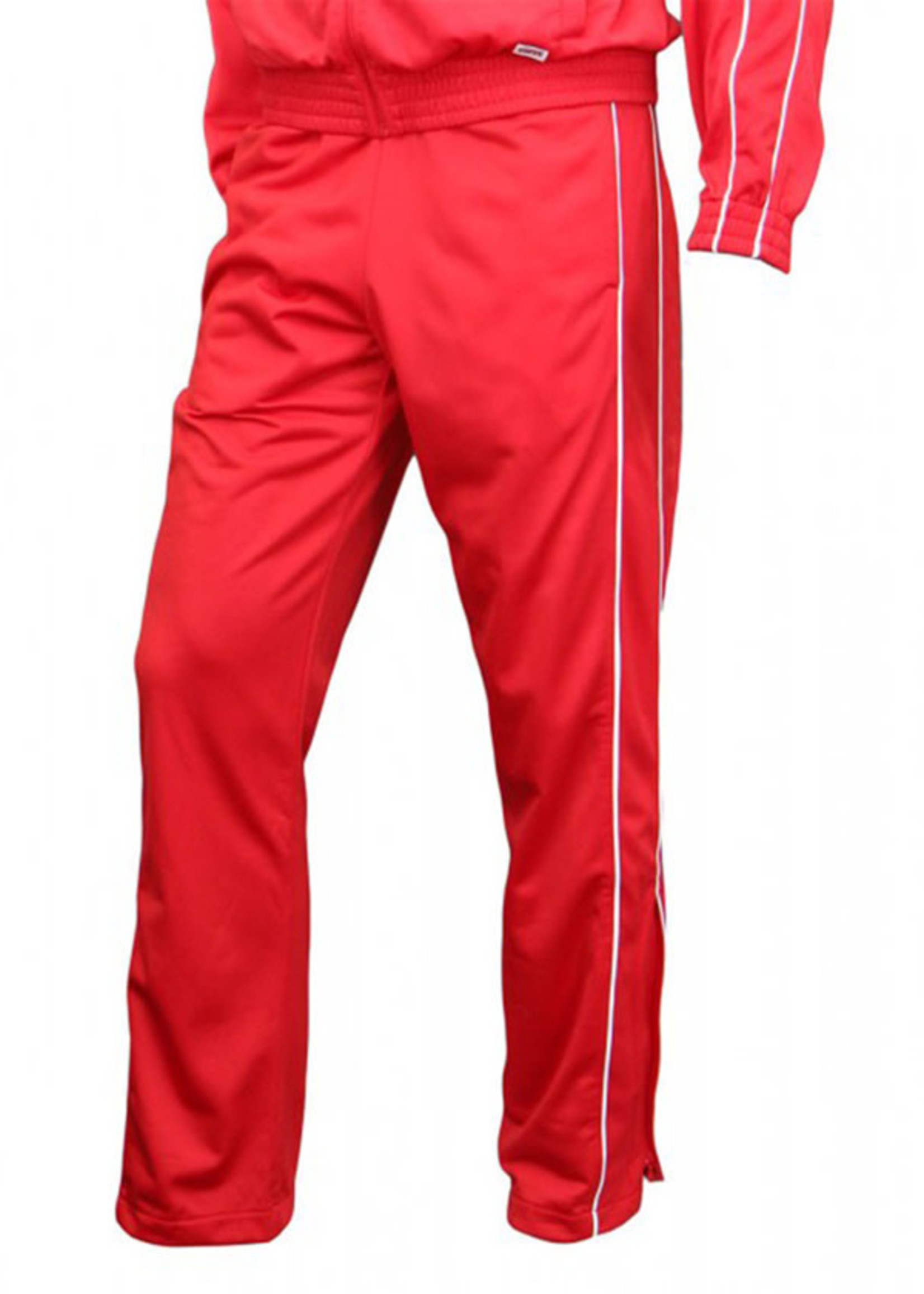 Red Tricot Warm Up Pants