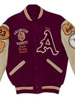 Wool and Leather Letter Jacket with Decoration Package