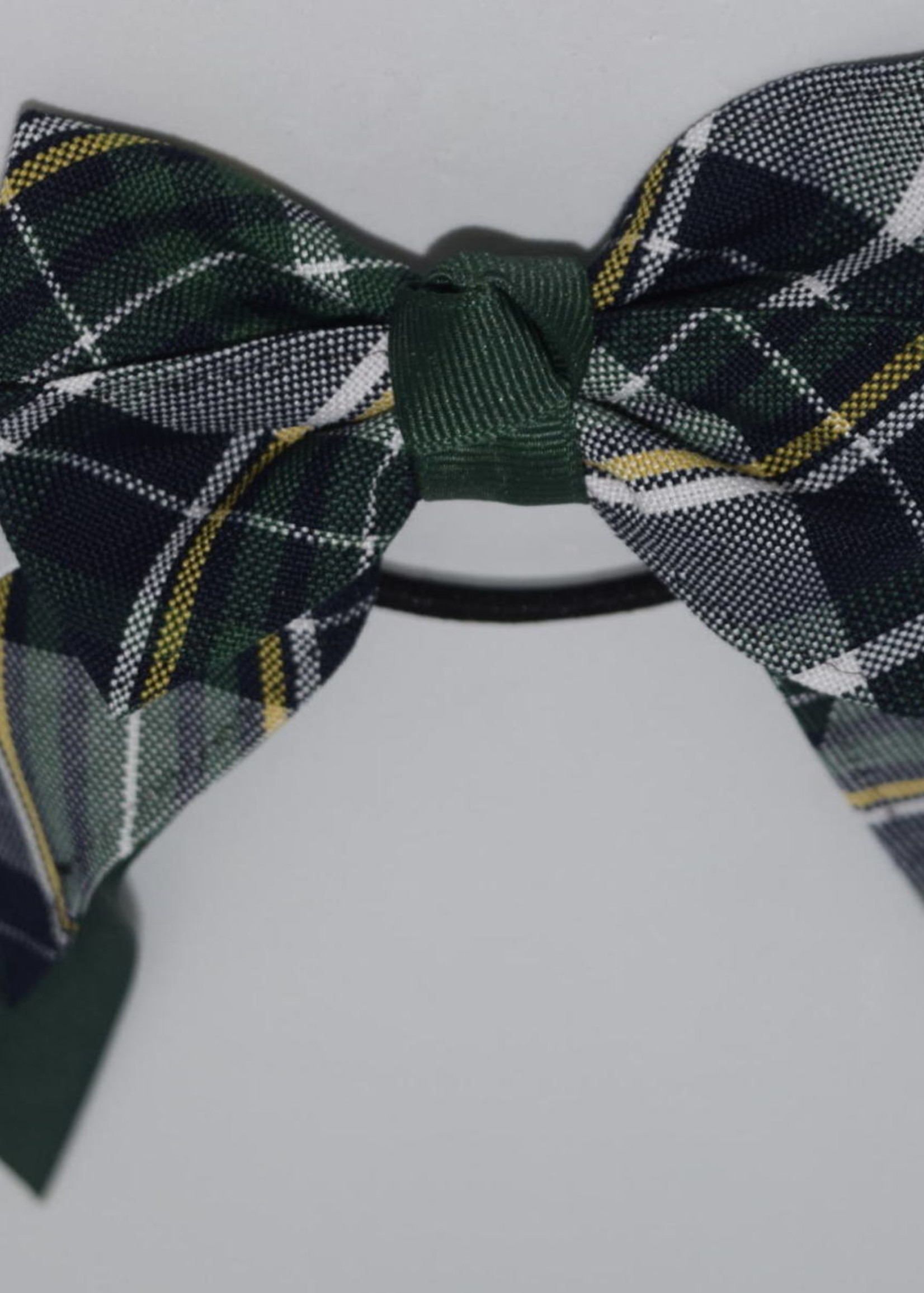 4 looped plaid bow w/plaid & grosgrain tails P1B FOR WHT