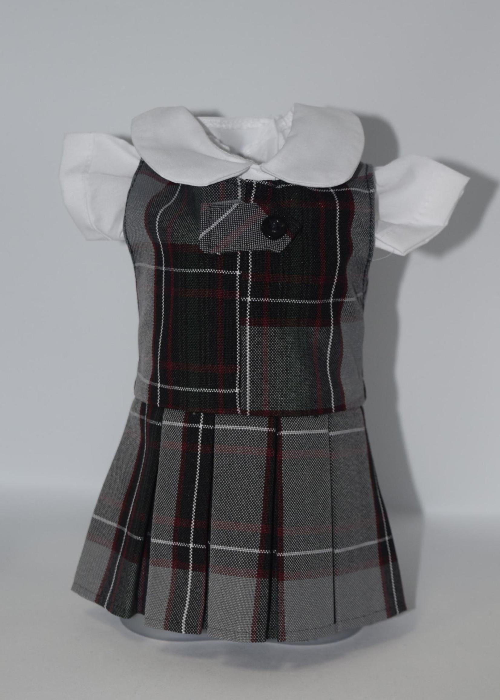 Zip-front Shift doll jumper P26