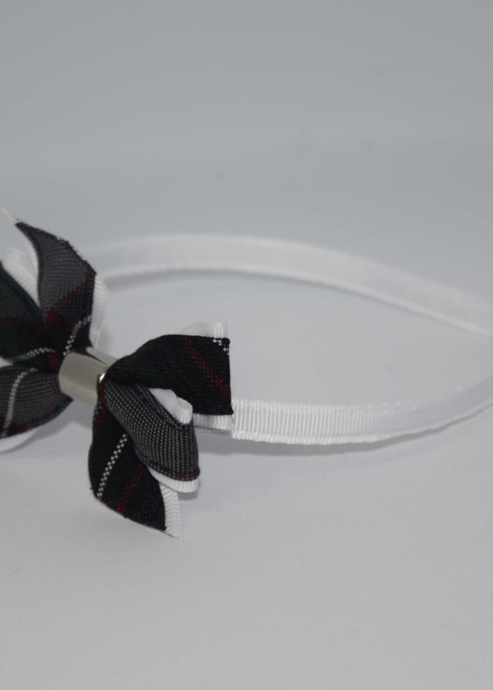 Mini Monarch Bow on covered Headband P26