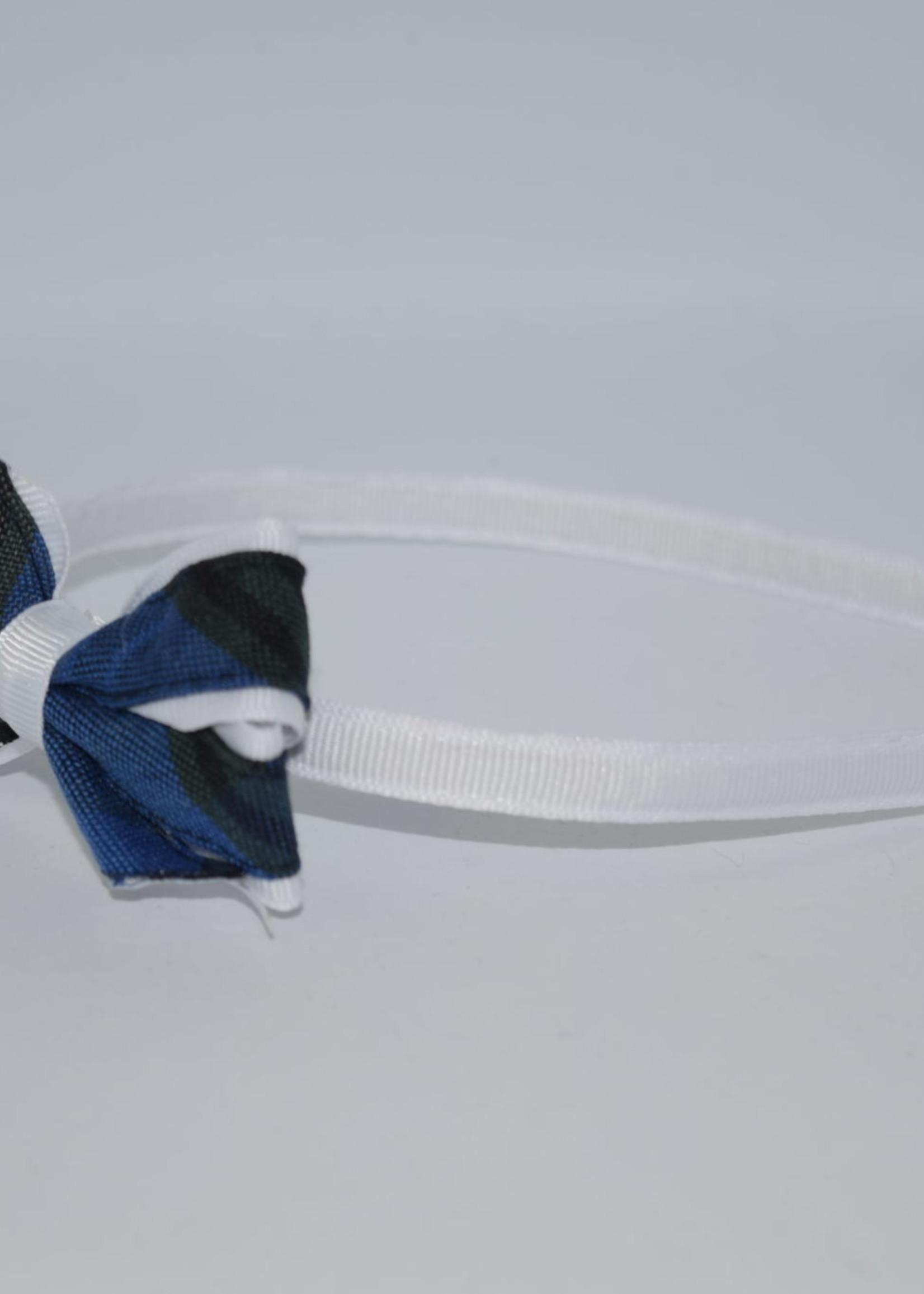 Mini Monarch Bow on covered Headband P32