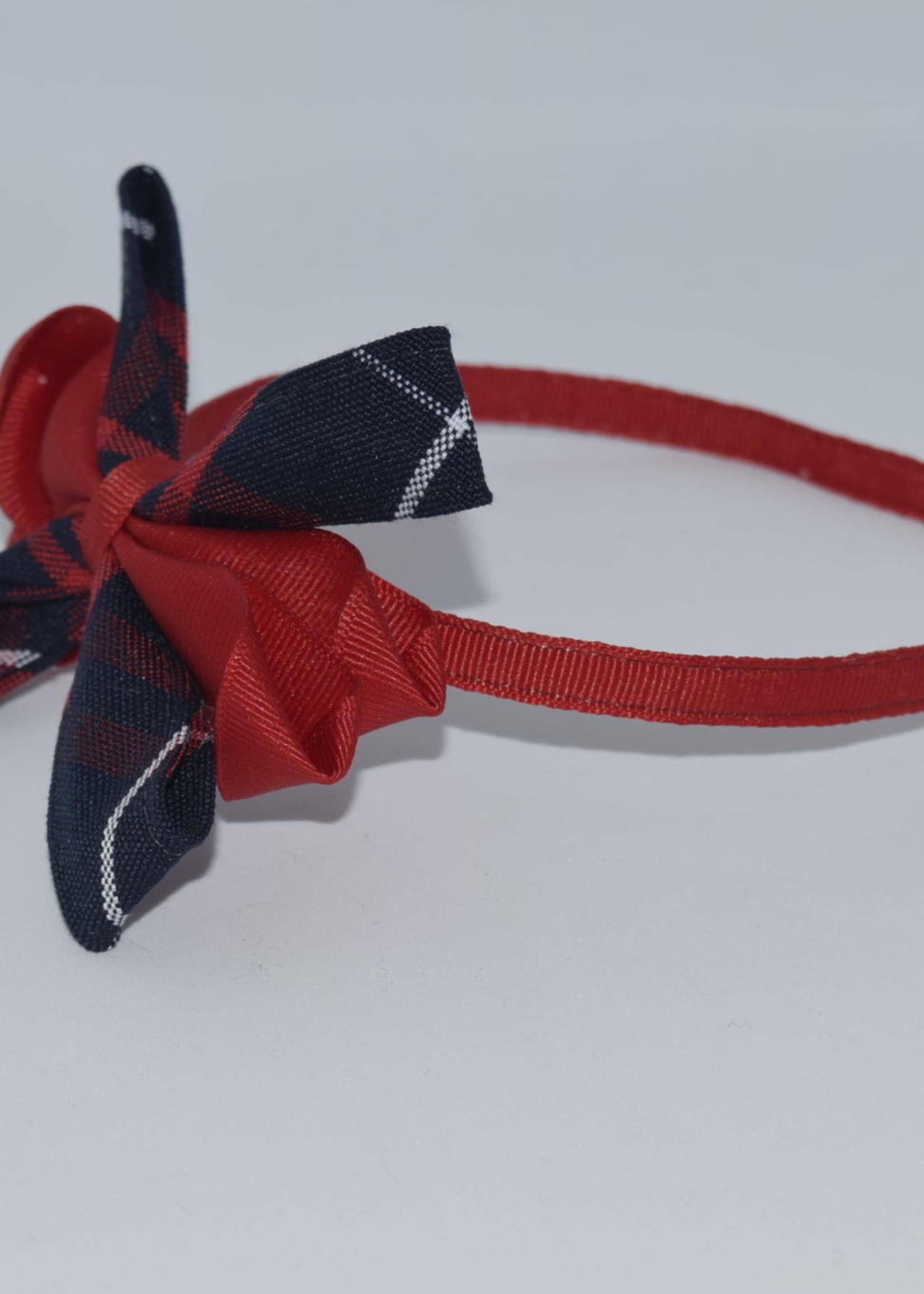 Carnival Bow on Headband P36 WHT RED