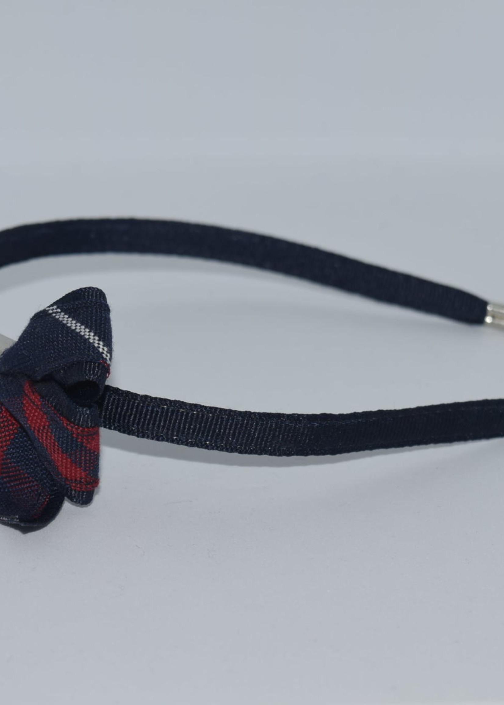 Mini Monarch Bow on covered Headband P36