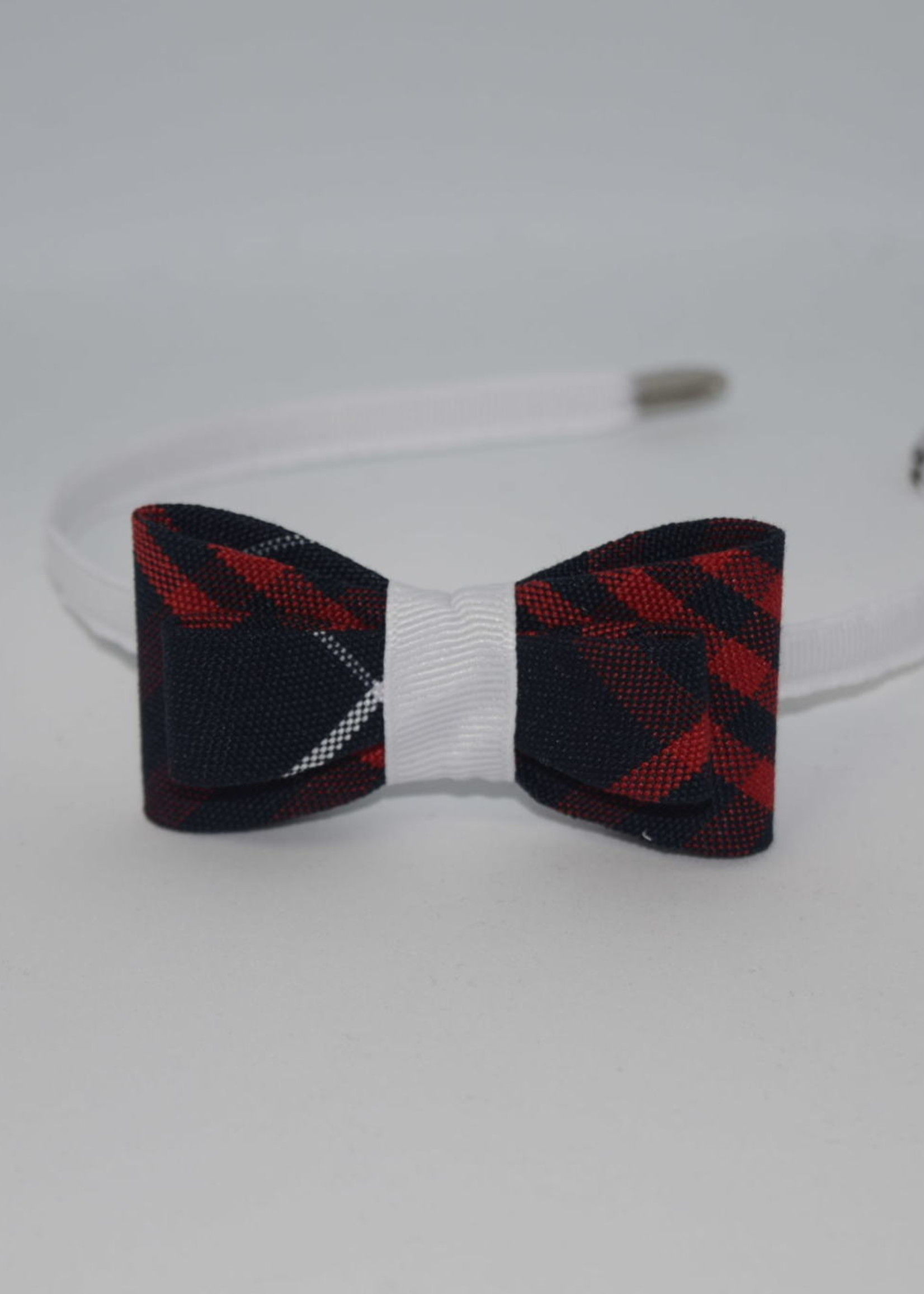 Double Tailored Ponytail Bow on Headband P36 RED