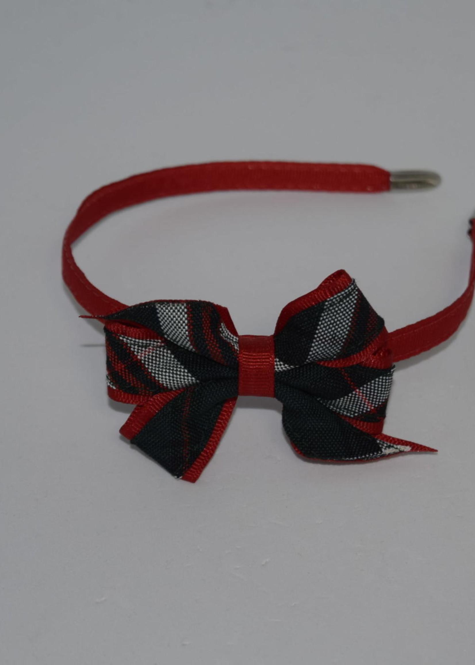 Mini Monarch Bow on covered Headband P3B