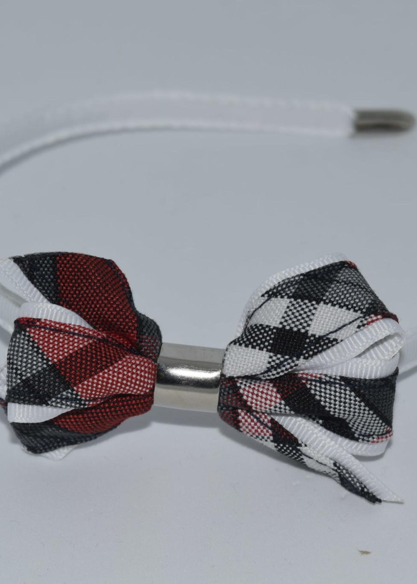 Mini Monarch Bow on covered Headband P69