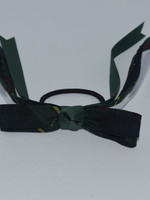 4 looped plaid bow w/plaid & grosgrain tails P83 FOR WHT