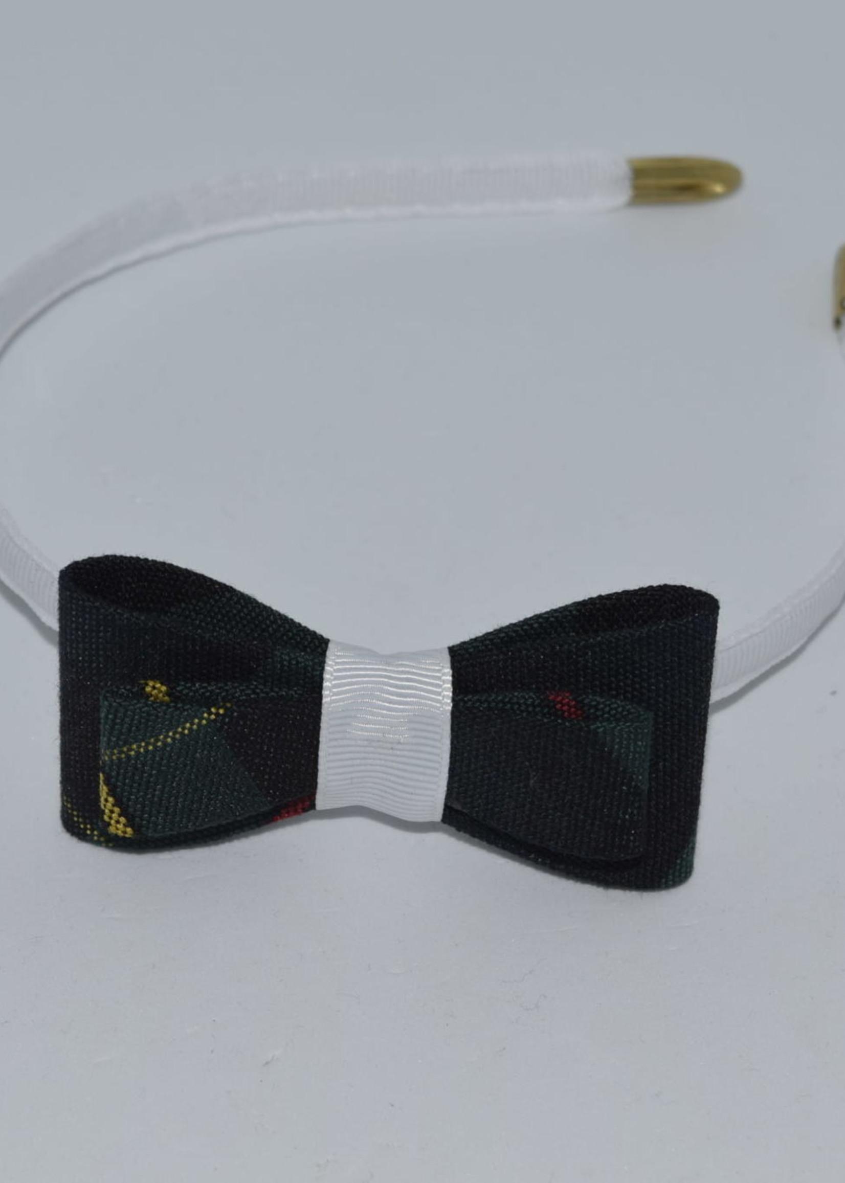 Double Tailored Ponytail Bow on Headband P83 WHT