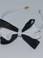 Carnival Bow on Headband P83 WHT FOR