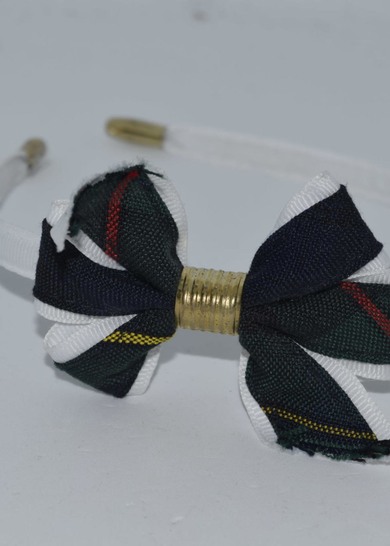 Mini Monarch Bow on covered Headband P83