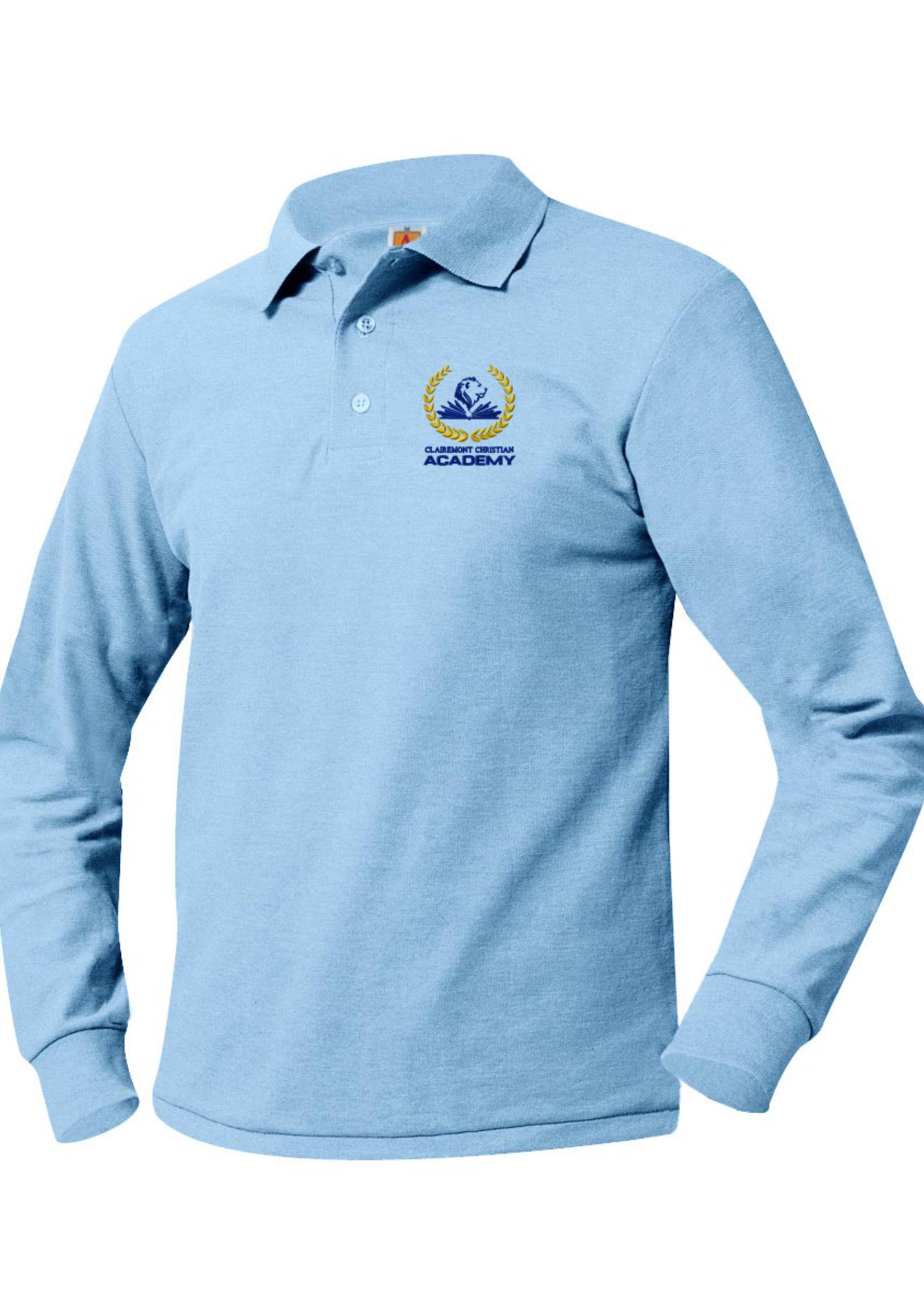 TUS CLCA GK6 Lt. Blue Pique Long Sleeve Polo