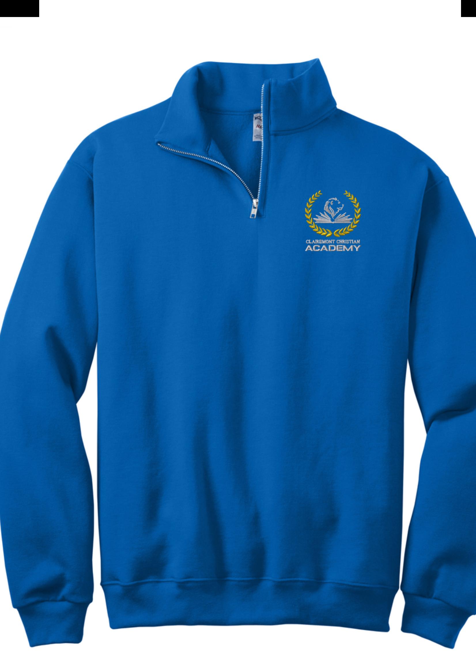 CLCA Royal 1/4 Zip Sweatshirt Royal