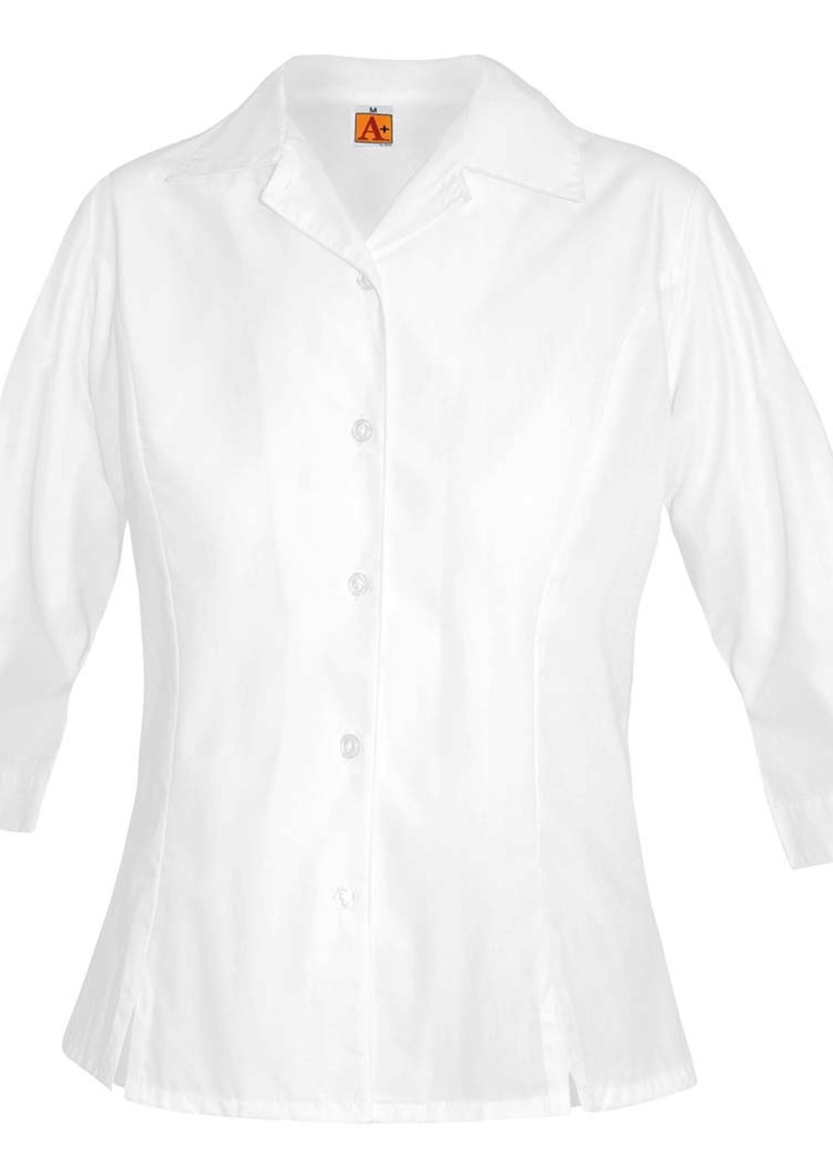 A+ 9267 SJC Princess Blouse 3/4 Sleeve White